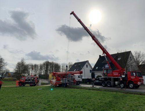 Bergung von Arbeitsbühne in Bottrop
